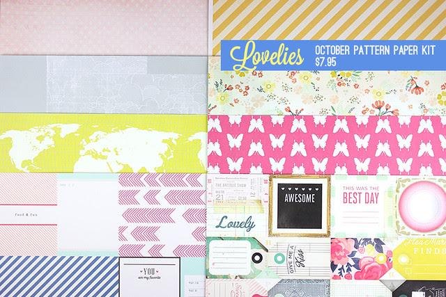 Oct TYPE Pattern Paper Kit