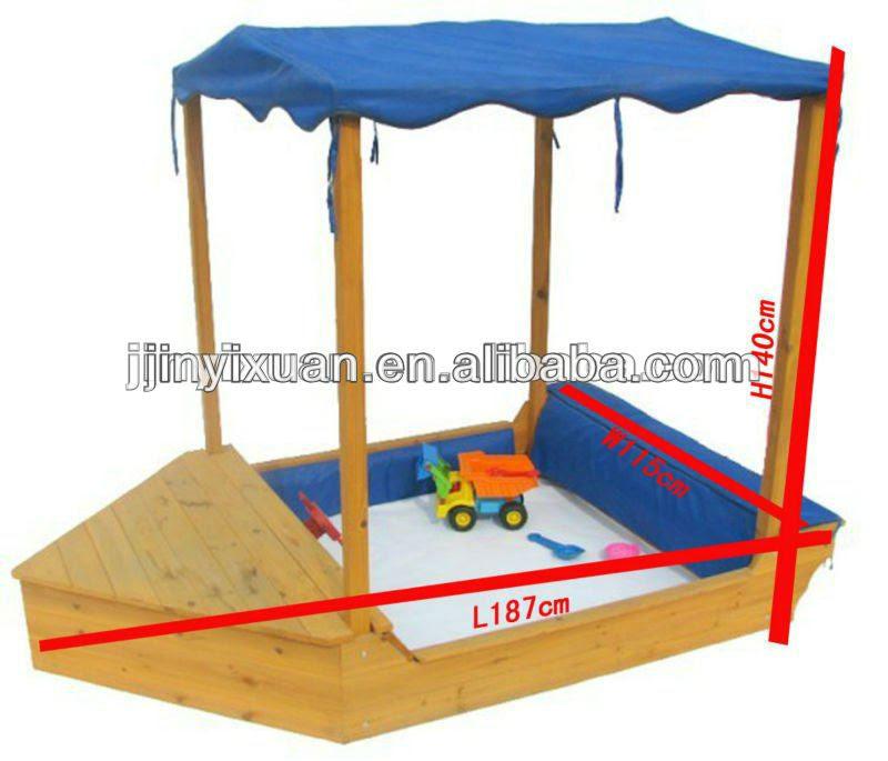 Kids Play Wooden Boat Sandpit / Garden Sandbox, View boat sandpit, JYX