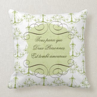 Love Quote in French Throw Pillow
