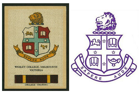 Wesley College armorial bearings