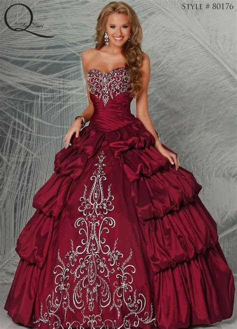 Maroon Quinceanera dress ~ Quinceanera dresses from Q by