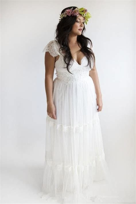 Garden Wedding Dresses Plus Size: Bohemian Wedding Dresses