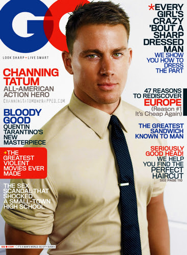 Channing Tatum Featured in August 2009 GQ Magazine (High Quality HQ)