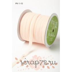 Бархатная лента от May Arts, цвет персиковый, 10мм, 90см