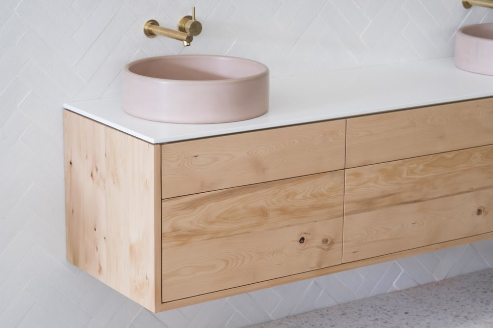 Stone Wood Bathroom Vanity Celery Top Pine Ingrain