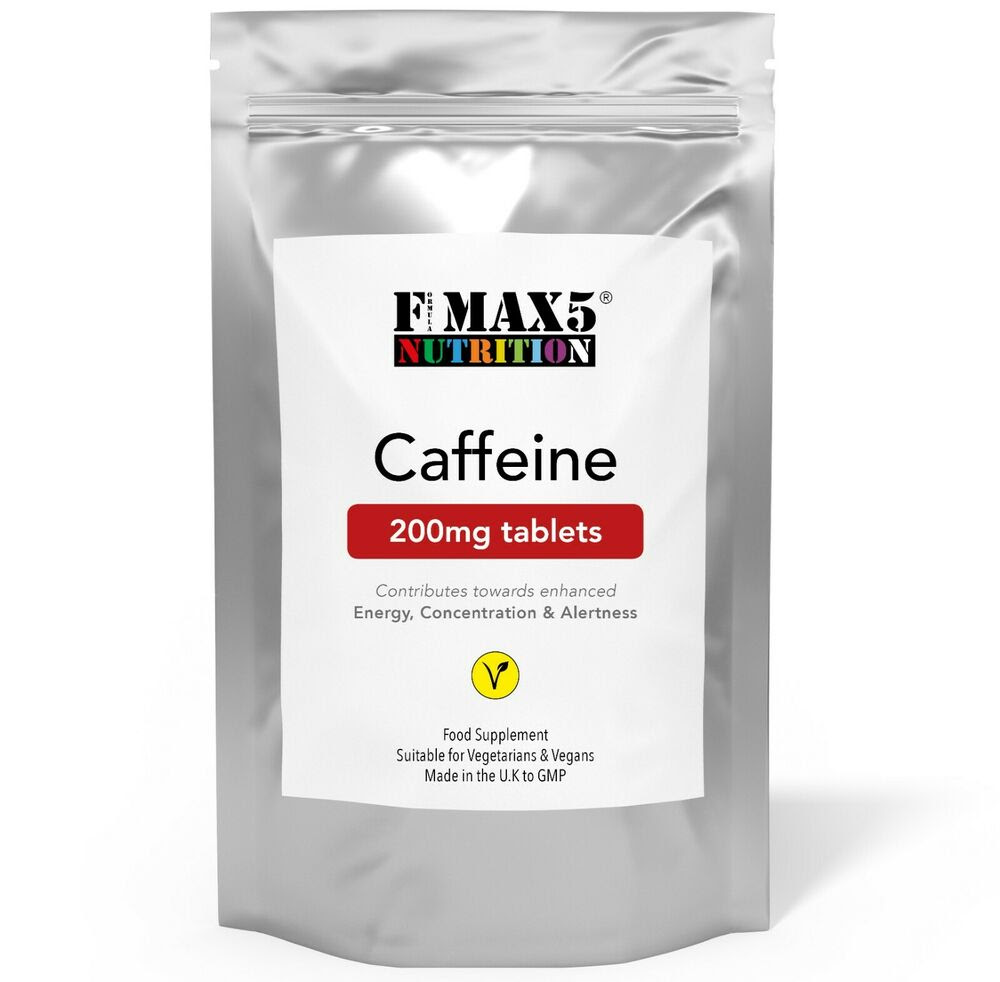 Caffeine Tablets 200mg Boost Pre Workout Energy Weight ...