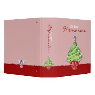 Christmas Tree Cupcake red2 Avery Binder binder