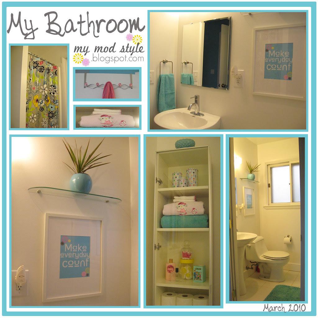 My Bathroom Collage - March 2010