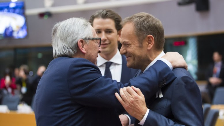 File Photo: From left to right: Mr Jean-Claude JUNCKER, President of the European Commission; Mr Sebastian KURZ, Austrian Federal Chancellor; Mr Donald TUSK, President of the European Council. Shoot location: Bruxelles - BELGIUM Copyright: European Union