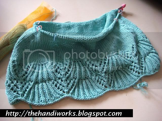 advance knitting lessons with cotton yarn