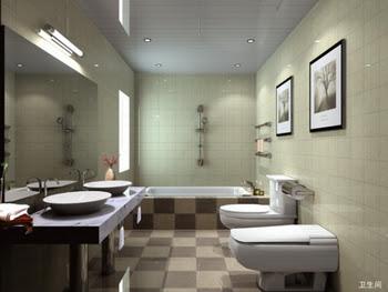 Moda modeli basit banyo