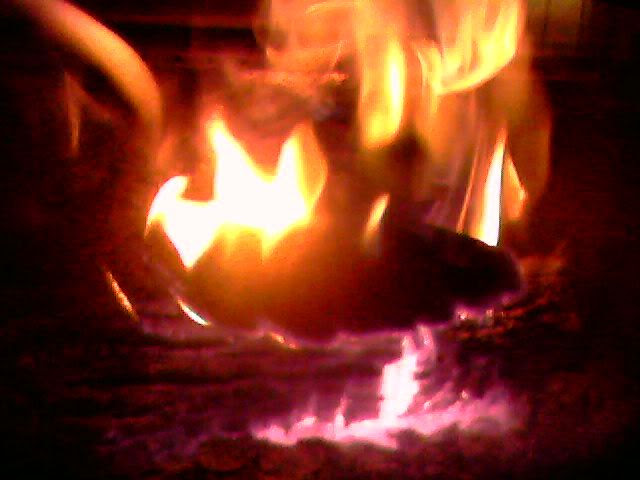 Mike's fiery stove