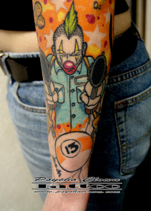 Tattoo Gallery - monsters evil demons aliens clowns and gore art