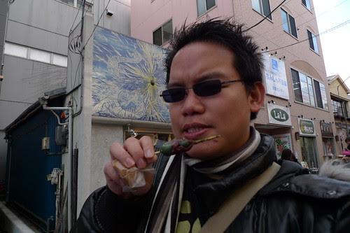Eating some dango