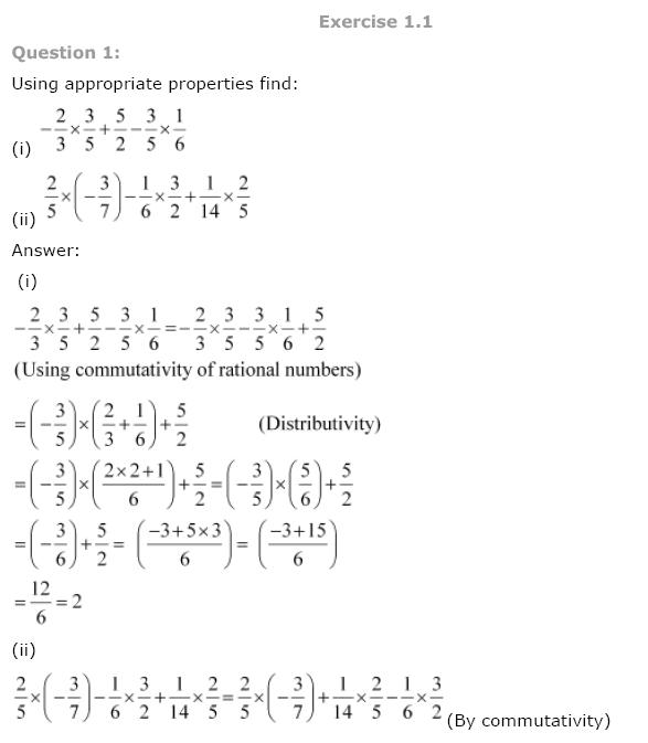 CBSE NCERT Class VIII (8th) | Mathematics, Rational Numbers, CBSE NCERT Solved Question Answer, CBSE NCERT Book Solutions for Class 8.