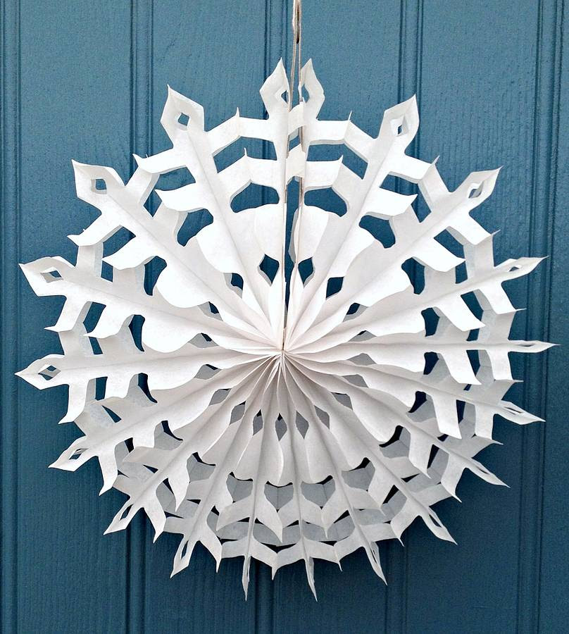 snowflake paper decoration stellar design lge by petra boase ...