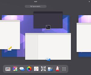 La nuova interfaccia di GNOME Shell 40