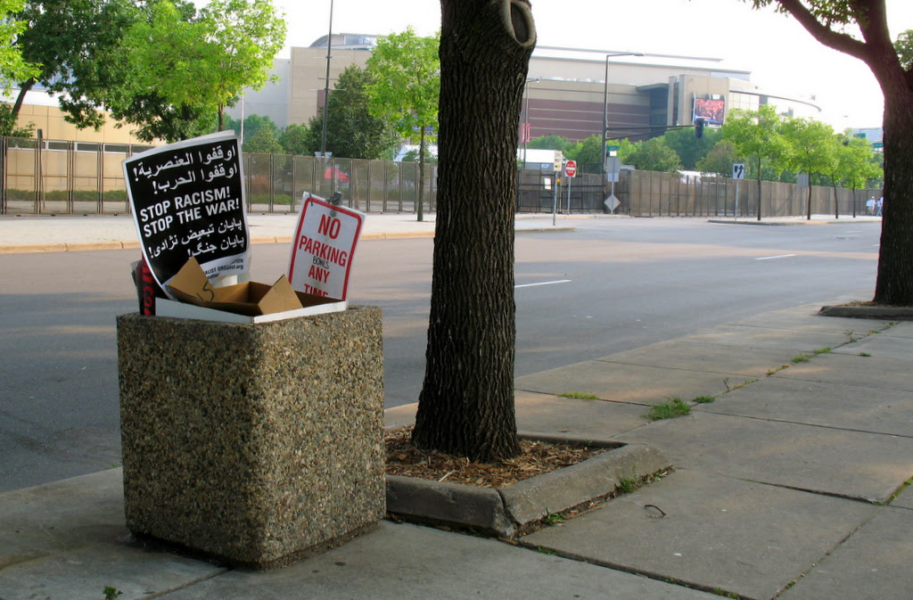 The aftermath of day one of protesting at the Republican National Convention 2008 in St Paul, Minnesota.
