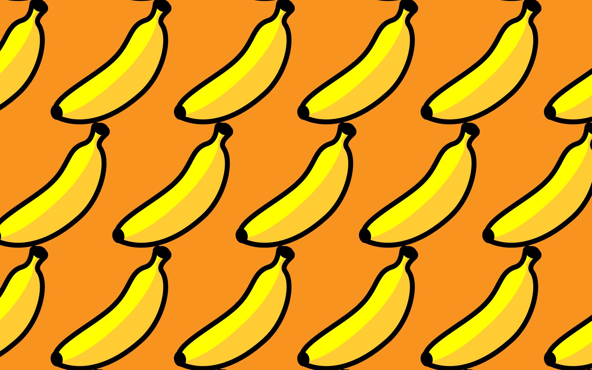 かわいいバナナづくし壁紙 Pc の無料イラスト 商用フリー オイデ43