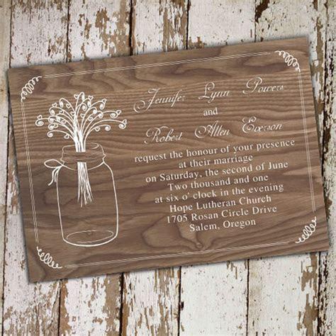 spring flower mason jar string lights rustic invitations