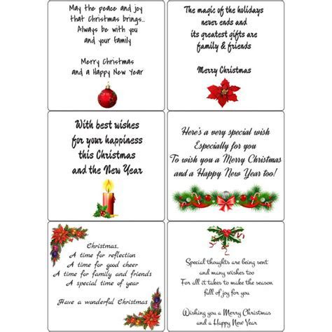 Peel Off Christmas Verses 2   Sticky Verses for Handmade