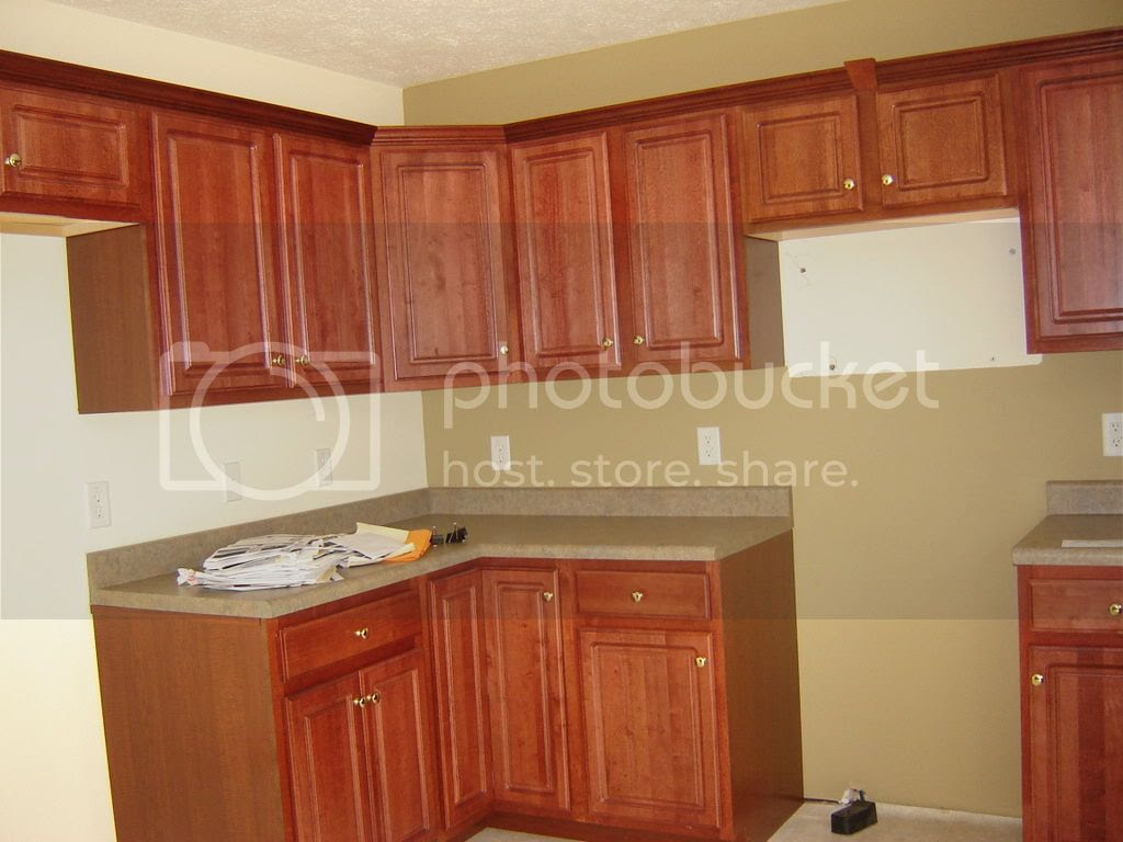 Kitchen Backsplash Tiles with Cherry Cabinets