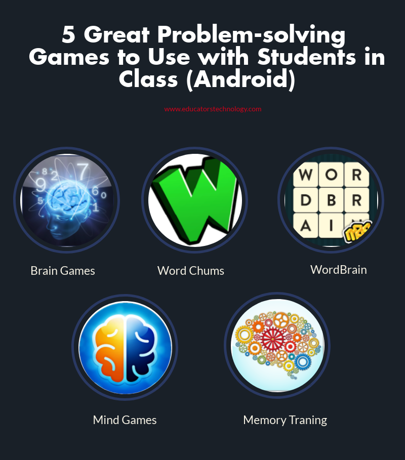 5 Great Problem-solving  Apps Games  to Use with Students in Class (Android)