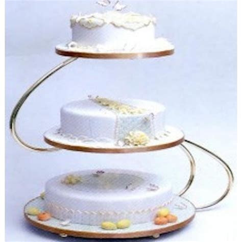PME S shape 3 tier gold wedding cake stand   PME from Cake
