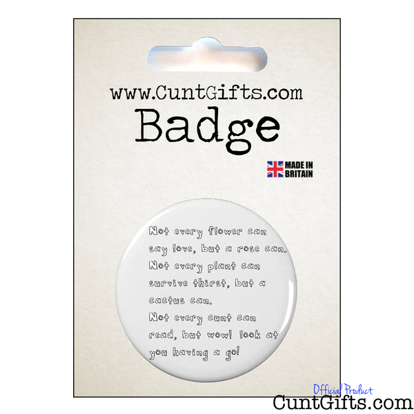 Wow Badge Cunt Gifts