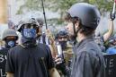 Portland protest turns violent, federal police clear plaza