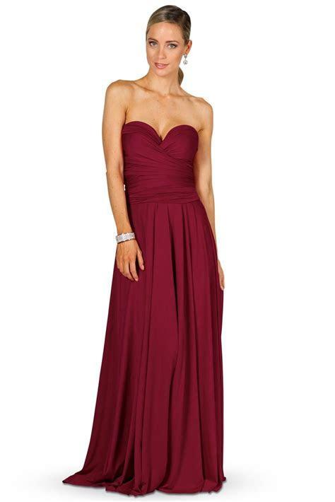 Convertible Bridesmaid Dress Maxi   Burgundy   Bridesmaids etc
