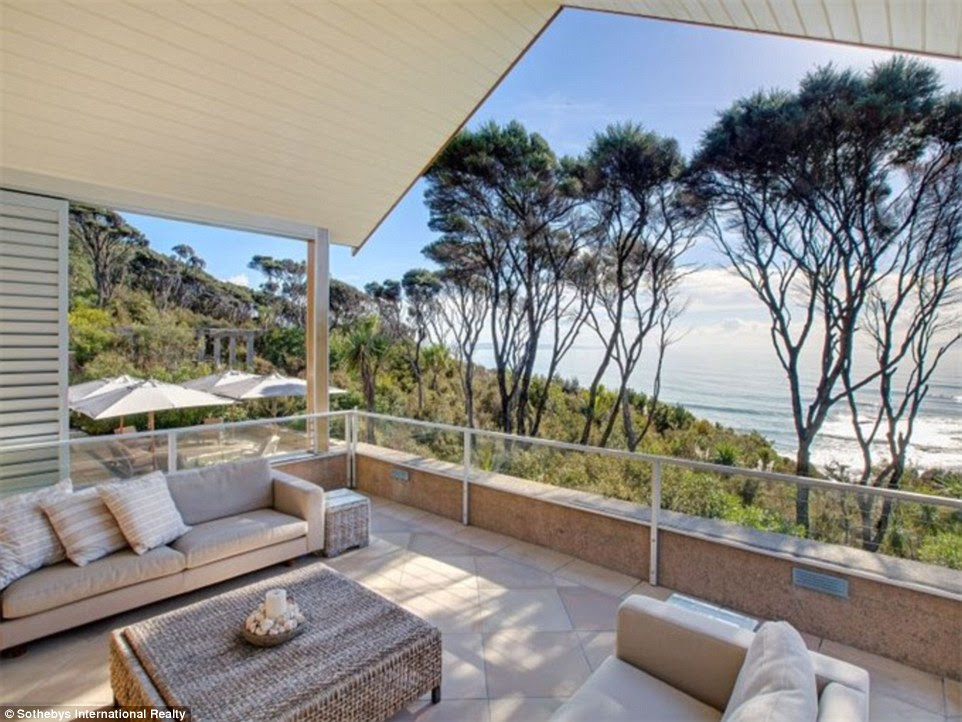 Safe: The country is considered the third safest on the planet, so is an attractive proposition for those scared by the prospect of unrest elsewhere. This five-bedroom home, a 40-minute drive from the city of Whangeri, has electric shutters so it's easy to secure
