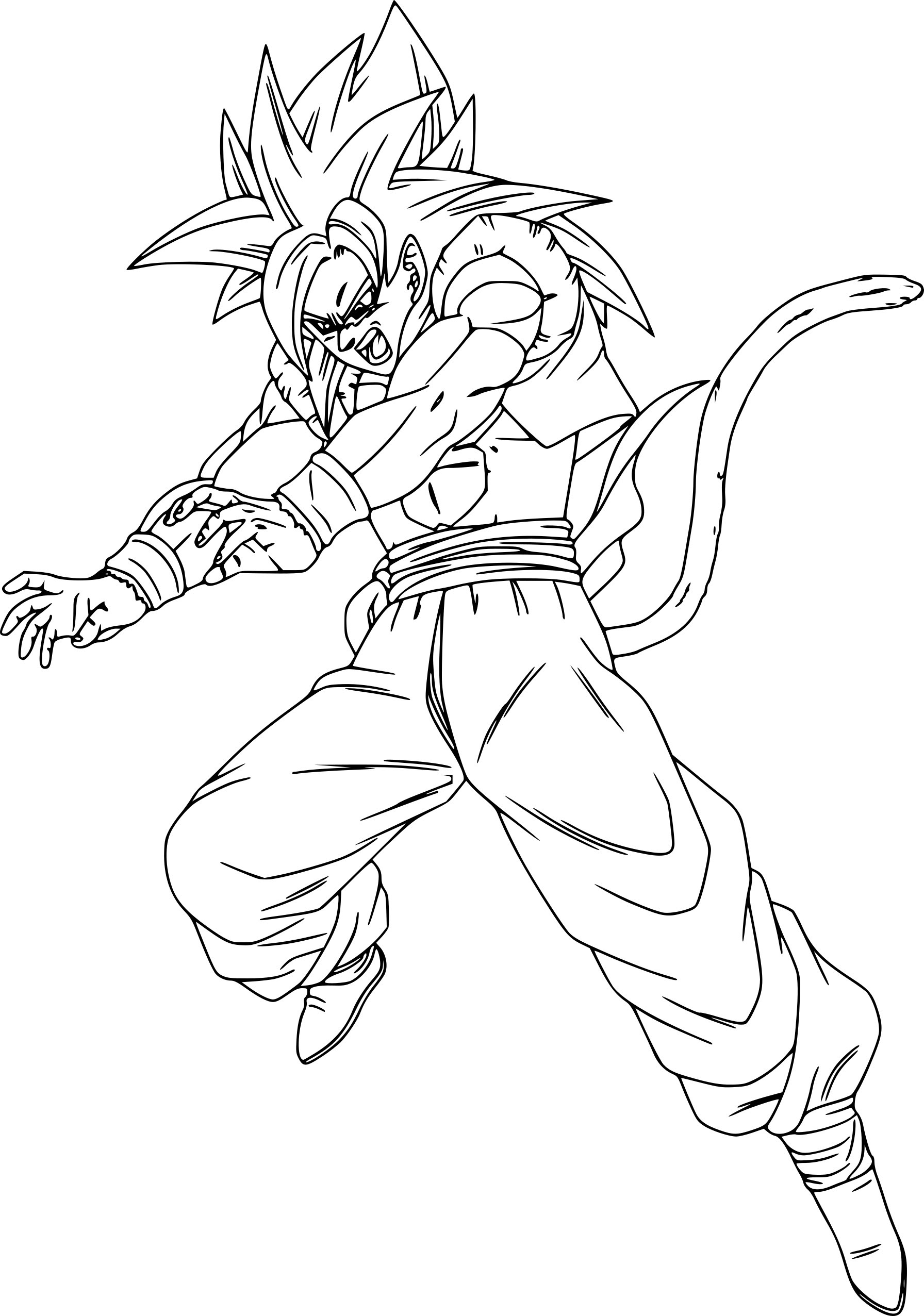 Coloriage Gogeta Dragon Ball Z à Imprimer