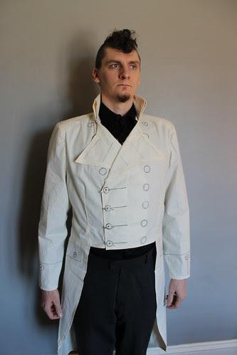 Custom tailcoat -  muslin fitting