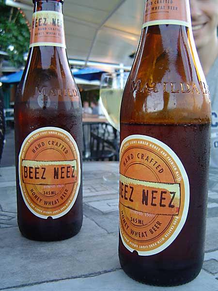 two bottles of Beez Neez beer