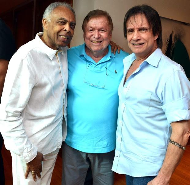 Gilberto Gil,  Boni e Roberto Carlos (Foto: Cristina Granato)