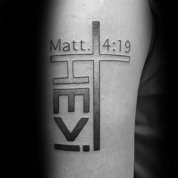 40 Simple Christian Tattoos For Men Faith Design Ideas