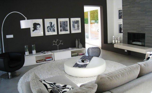 Ιδέες Σχεδιασμού  Σαλονιού  σε Άσπρο & Μαύρο16