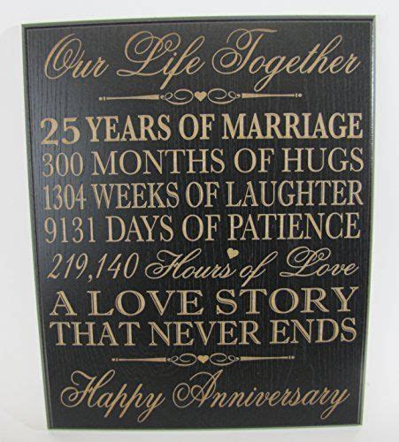 DaySpring 25th Wedding Anniversary Wall Plaque Gifts for