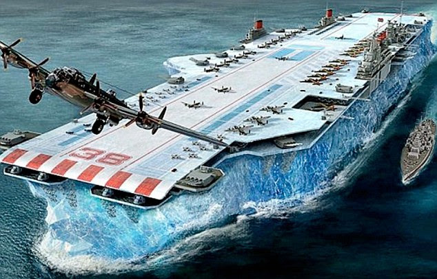 Vision: Why not convert icebergs into mid-Atlantic floating air bases with a runway on the top? It was one of the strangest and most ambitious ideas of the Second World War