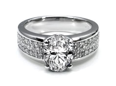 Wide Pave Diamond Ring   Wedding, Promise, Diamond