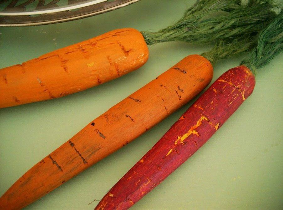 wooden carrots