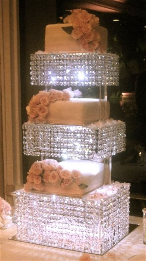 Crystal with Lights Cake Stand by Cake Appreciation