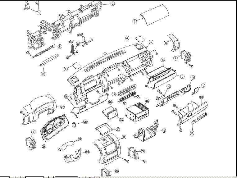 2006 Nissan pathfinder fuse diagram