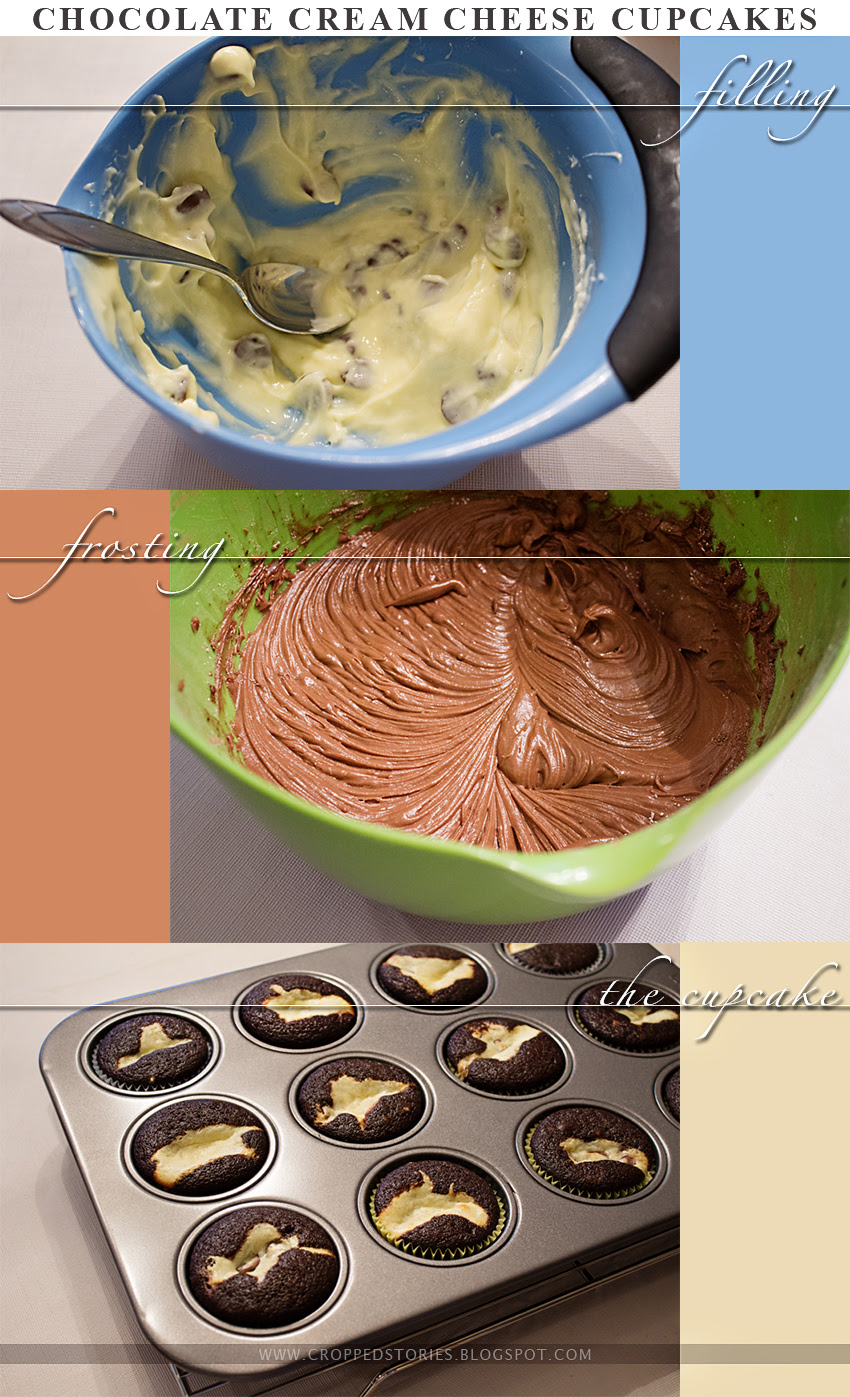 Chocolate Cream Cheese Cupcakes via Cropped Stories