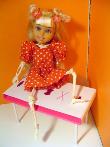 The Doll Project: Ana's Modeling Career. Skeletal Ana is finally thin enough to be a model.