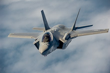 Image result for F-35 Lightning II fighters, 10 F/A-18 Super Hornets, and three KC-46A tanker aircraft
