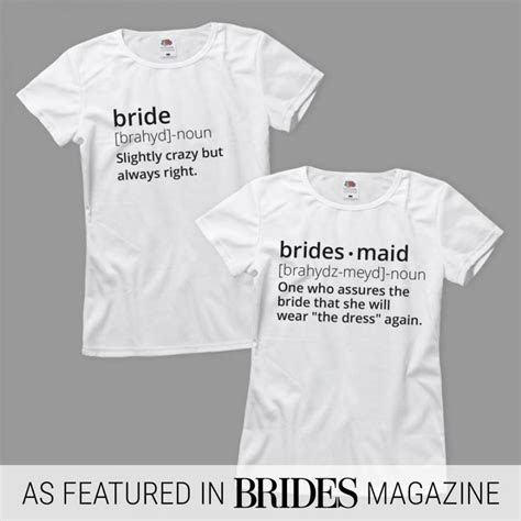 Definition Of Bride Ladies Relaxed Fit Basic Promo T Shirt