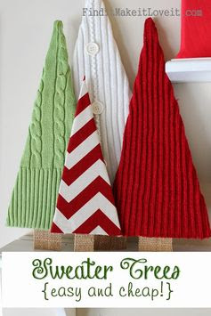 Find it, Make it, Love it: Sweater Trees! Easy, cheap (free)