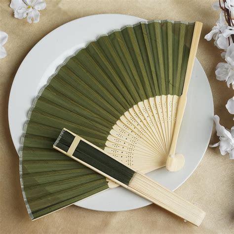 100 Silk FOLDING Handheld FANS Summer Wedding Party Favors